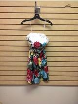 Loft Women's Size 0 Multicolored Floral Print Strapless Dress - $23.38