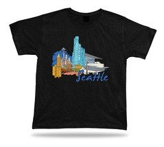 Seattle Space Needle Museum of Flight Gas Works Park Chihuly SculpturePark shirt - $7.57
