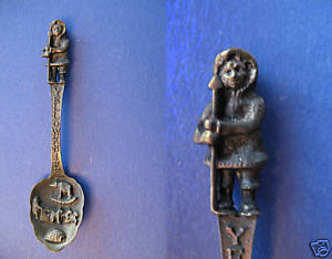 Primary image for YELLOWKNIFE NWT Souvenir Collector Spoon Pewter ESKIMO Harpoon Collectible VTG.
