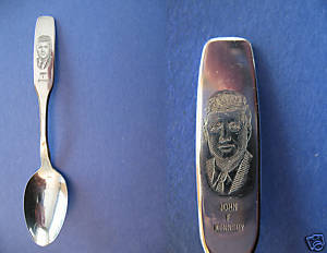 Primary image for JOHN F KENNEDY President Souvenir Collector Spoon JFK Collectible Vintage