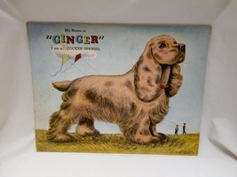 1940s My Name is Ginger I am a Cocker Spaniel Prize Art Puzzle 200-G:88 ... - $19.20