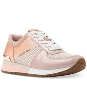 Michael Kors MK Women's Allie Trainer Leather Sneakers Shoes Soft Pink - $2.385,50 MXN