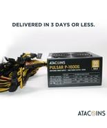 1600W 110V Power Supply For 6 GPU Eth Rig Ethereum Coin w/14awg NEMA 5-1... - $168.29