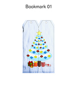 Christmas Bookmark2-Digital Clipart-Background-Party-Holiday-Scrapbook-N... - $2.00