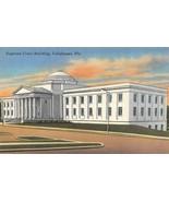 TALLAHASSEE, Florida FL  SUPREME COURT BUILDING  ca1940's Tichnor Linen ... - $5.85