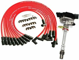 EFI Distributor 6 Cylinders Vortec 1995-2007 & Red Spark Plug Wires For Chevy GM image 1