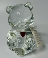 Fenton Glass January Birthstone Bear Brand new with tags red ruby heart F8  - $16.82