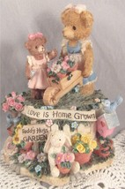 San Francisco Music Box TEDDY HUGS Love Is Home Grown Plays You light Up... - $24.95