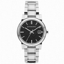 Burberry BU9101 Large Check Black Dial Swiss Made Womens Watch - $188.10