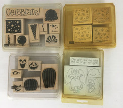 Stampin' Up! 2-Step Stampin' Perfect Party/Fab 4/Carved/Angel Rubber Sta... - $11.88