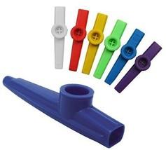 Plastique Kazoo Classique Jeu / Fête Jouet Musical Instrument Couleurs A... - $4.99