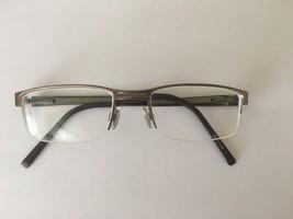 08edbc73d8 Lacoste LA12022 Men's Brown Half-Rimless Metal Eyeglasses Frames 51-