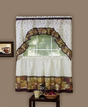 "Achim Home Furnishings Coffee Tier and Swag Window Treatment Set, 57"" x 36"", Bro - $33.34+"