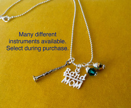 Band Mom Necklace, High School Marching Band, Custom jewelry, Instrument... - $17.00