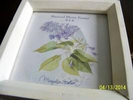Marjolein Bastin Musical Photo Frame Wood Glass... - $19.80