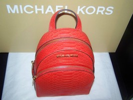 Michael Kors Abbey Python Embossed Leather Back... - $159.95