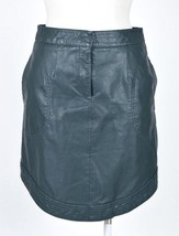 MAEVE Anthropologie Green Faux Leather Straight Pencil Midi Knee Skirt 4... - $24.74