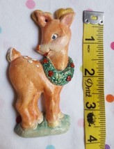 1994 Reindeer with Wreath Christmas Ornament Vintage Decoration pre-owned - $8.90