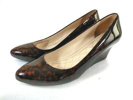 COLE HAAN Animal Leopard Print Patent Leather Slip On Wedge Heel Women's... - $28.01