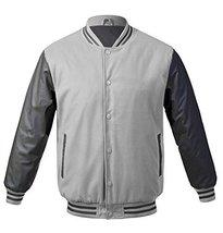 Maximos USA Men's Premium Vintage Baseball Letterman Varsity Jacket (Large, Ligh