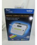 BONUS Brother P-Touch PT-D400 18MM Self Adhesive Sticker Tape Label Make... - $29.69