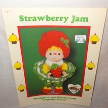 Strawberry Jam Doll Pattern Cupcake Corner Dumplin Designs Crochet 1985 UP3 - $9.99