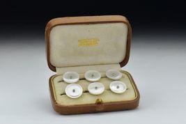 1909 Edwardian Tiffany & Company Mother of Pearl, Diamonds 24k Tuxedo bu... - $900.00