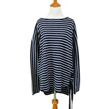NWT Michael KORS $98 Navy Graphic Stripe Top Side Grommet Tie L - $40.00