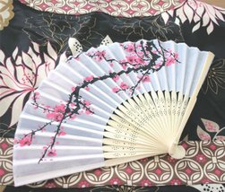 Cherry Blossom Silk Fans (Set of 48) - $77.55