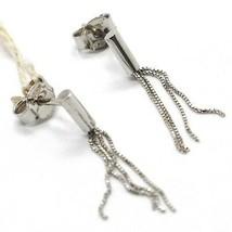 Drop Earrings White Gold 750 18k, Waterfall Fringed, Multiple Strings image 1