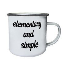 Elementary And Simple  Retro,Tin, Enamel 10oz Mug k501e - $13.13