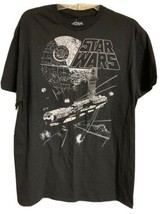 Star Wars Ship Shot Millennium Falcon Black Disney T-Shirt Mens Sz L NEW - $18.99