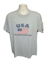 2002 Salt Lake XIX Olympic Winter Games USA Adult Large Gray TShirt - $19.80