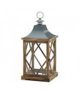 Large Wooden Diamond Lattice Lantern - $49.97