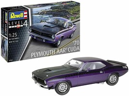 Revell Germany 7664 1:25 1970 Plymouth AAR 'Cuda' Plastic Model Kit - $28.70