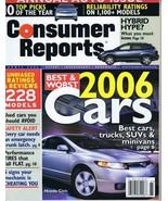 ORIGINAL Vintage 2006 Consumer Reports Magazine Cars Issue - $14.84