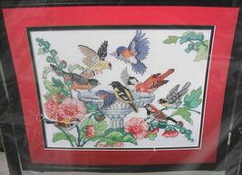 BIRD BATH Bucilla Counted Cross Stitch Kit OOP 1994 Barbara Baatz - $15.00