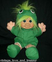 Vintage Russ Berrie Troll Bambini Kidz 2412 Rana Adatto per Peluche Peluche M - $30.73
