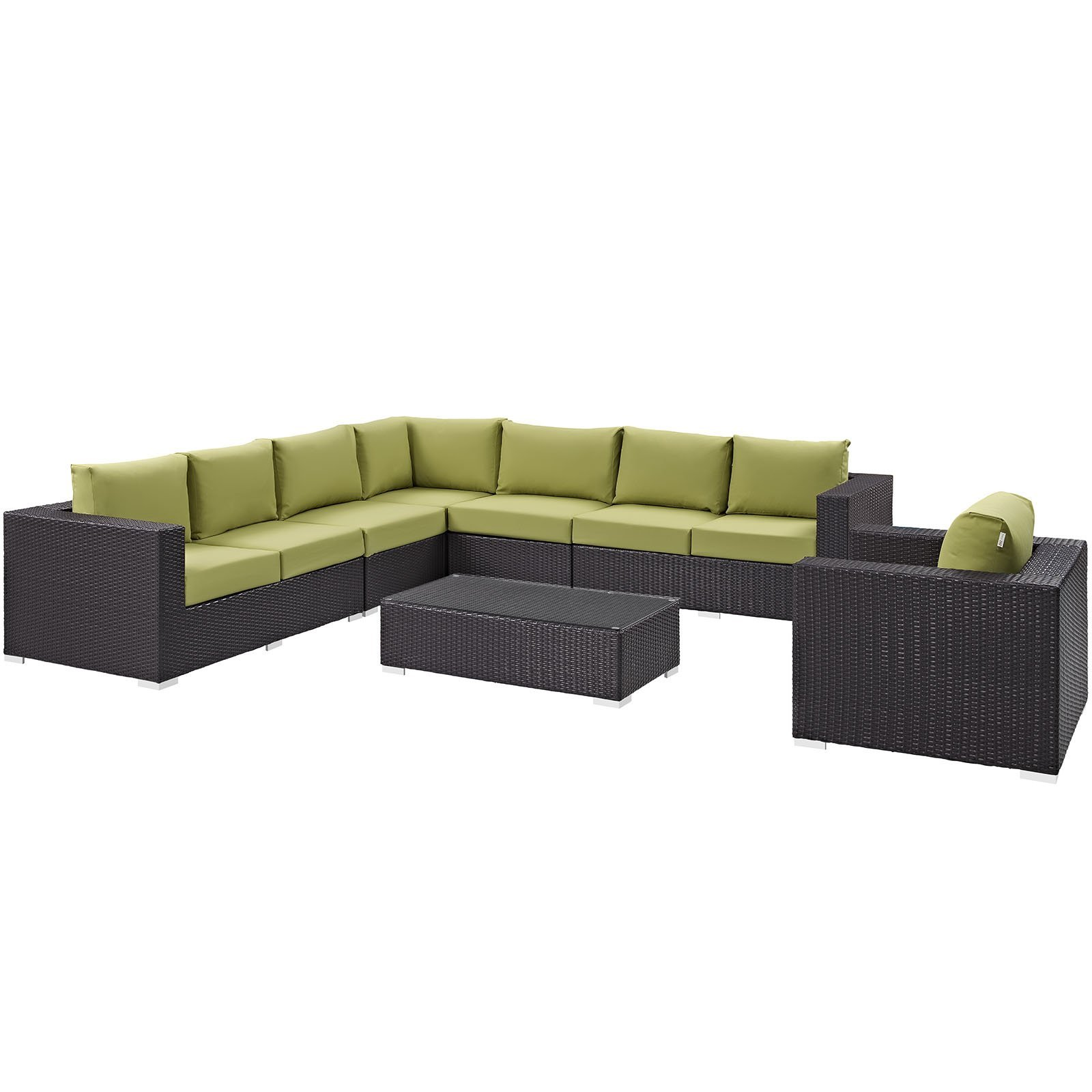 Convene 7 Piece Outdoor Patio Sectional Set EEI-2162-EXP-PER-SET