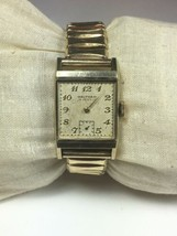 Vtg Waltham Watch 10K G.F. Bezel Bretton Band 1/20 -12K G.F. Tops 750-B Movement - $39.59