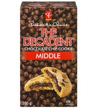Presidents Choice The Decadent Chocolate Chip Middle Cookies 280g/9.88oz... - $18.22