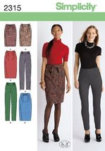 Simplicity Sewing Pattern 2315 Misses' and Miss Petite Skirts and Pants, H5 (6-8 - $12.86