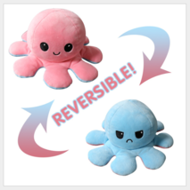 Original reversible octopus plush toy- pink and light blue - $13.99