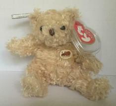 Ty Beanie Jingle Babies Herschel The Bear Plush Metal Clip Keychain/NWT - $6.33