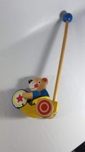 "Vintage Melissa & Doug Drumming Circus Bear Push Toy 19.5"" Very Good Con... - $11.88"