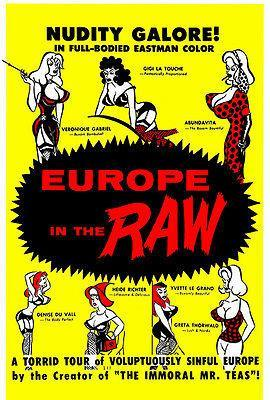 Primary image for Europe in the Raw - 1963 - Movie Poster