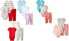 Nautica Infant Baby Girl's 3 Piece Bodysuit and Pants Set NEW Cute Styles!