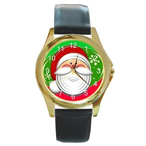 JOLLY SANTA  CHRISTMAS GOLD-TONE WATCH 9 OTHER STYLES