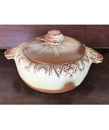 Frankoma Pottery Desert Gold Wagon Wheel Horse Shoe Casserole Bean Pot T... - $21.99