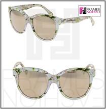 DOLCE & GABBANA Almond Flowers 4176 White Gold Mirrored Sunglasses Kids ... - $154.44